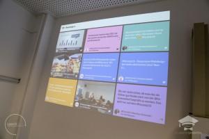 Die Echtzeit-Social Media-Wall auf dem #hscamp16