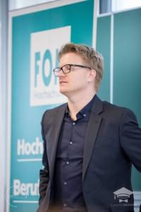 Holger Gottesmann bei der Begrüßung zum #hscamp16