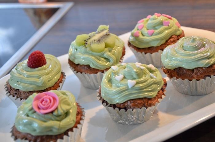 Lowcarb Matcha Cupcakes