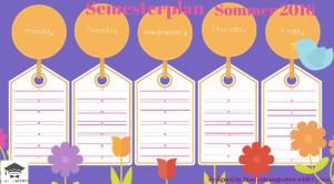 Stundenplan Sommersemester 2016